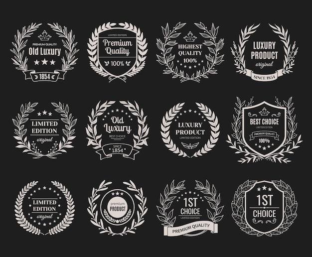 Set zilveren emblemen