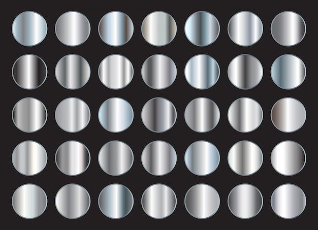 Set zilveren gradiënten