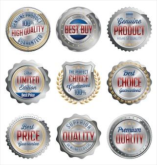 Set zilveren retail badges