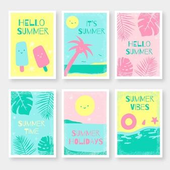 Set zomer kaarten