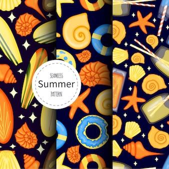 Set zomer patronen illustratie