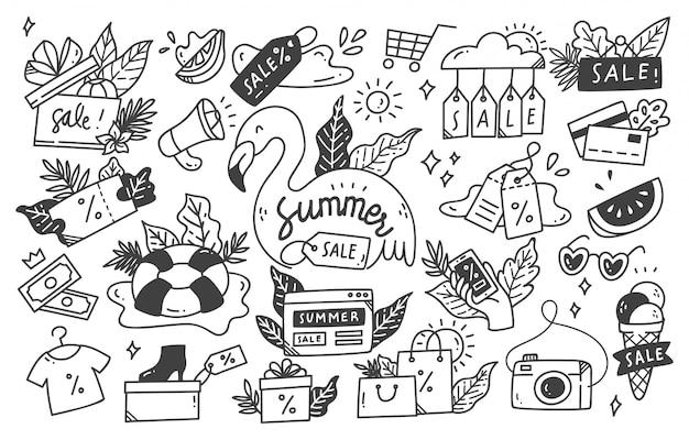 Set zomer verkoop doodle collectie