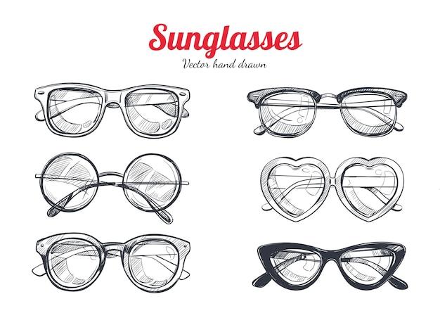 Set zonnebrillen voor de zomerzon