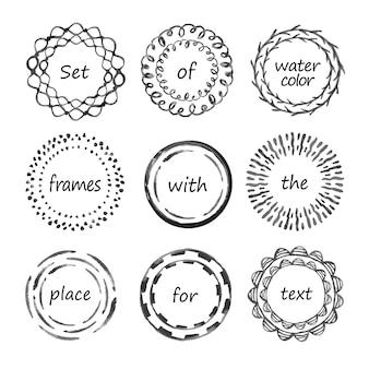 Set zwarte cirkelframes
