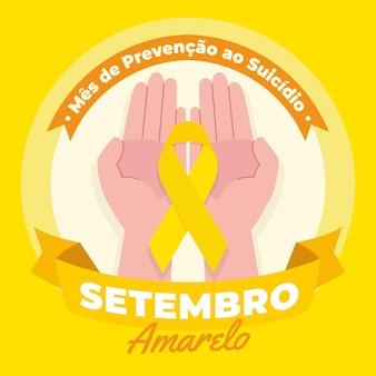 Setembro amarelo illustratie