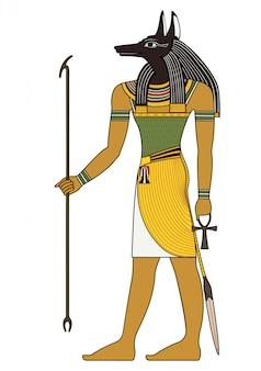Seth, egyptisch oud symbool, geïsoleerde figuur van oude goden van egypte