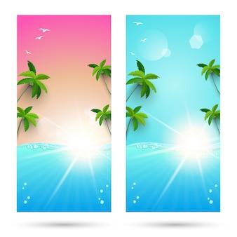 Sets achtergronden voor zomervakantie