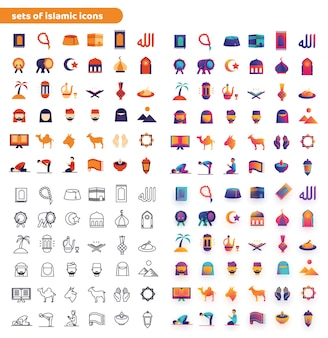Sets van islamitische pictogrammen