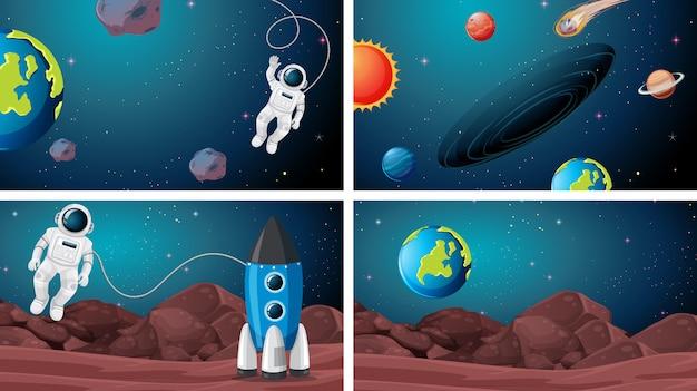 Sets van ruimtescènes