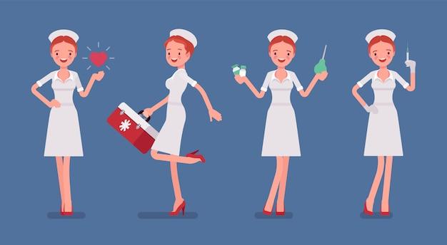 Sexy verpleegster met behandeling