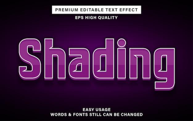 Shading teksteffect