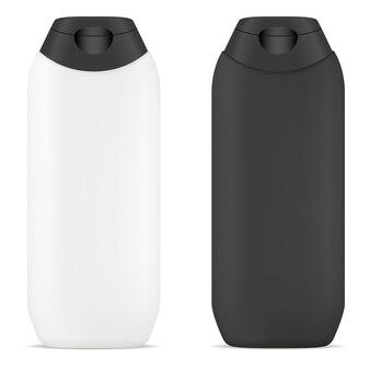 Shampoo vector bottle. cosmetische tube blank