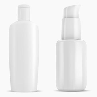 Shampoofles, mousseverpakking dispenserpomp, 3d container.