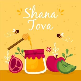 Shana tova met honing