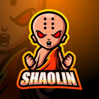 Shaolin mascotte esport illustratie