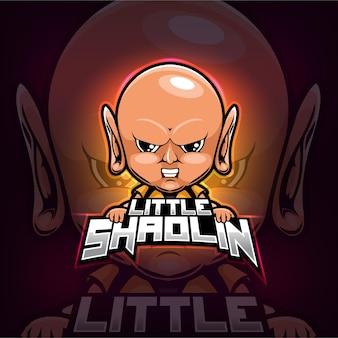 Shaolin mascotte esport logo ontwerp