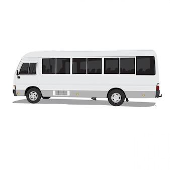Sharedbus vectorillustratie op witte achtergrond volledige bewerkbare indeling