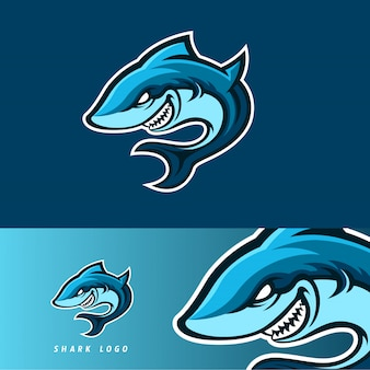 Shark esport gaming mascotte embleem