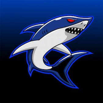 Shark esport mascotte logo
