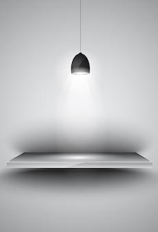 Shef met 3 spots lamp met gericht licht