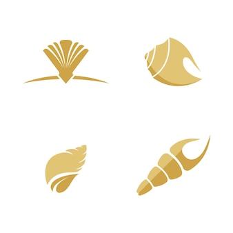 Shell vector pictogram illustratie ontwerpsjabloon