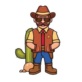 Sheriff cartoon afbeelding
