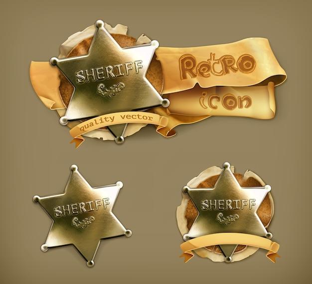 Sheriff, retro pictogram