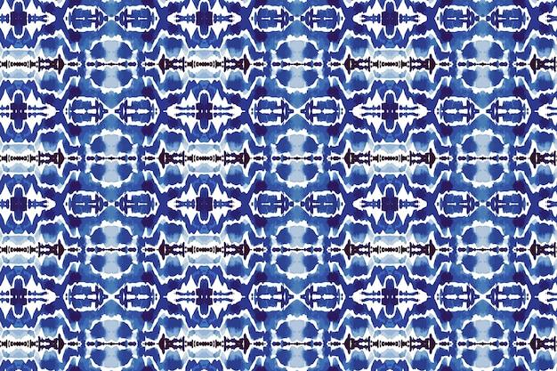 Shibori naadloze patroon aquarel
