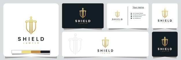 Shield-advocaat, voor uw veiligheid, inspiratie voor logo-ontwerp