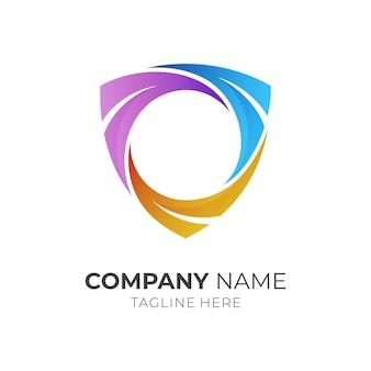 Shield frame logo sjabloon