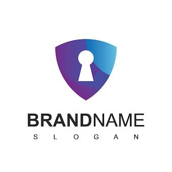 Shield logo, cyber secure pictogram ontwerpsjabloon