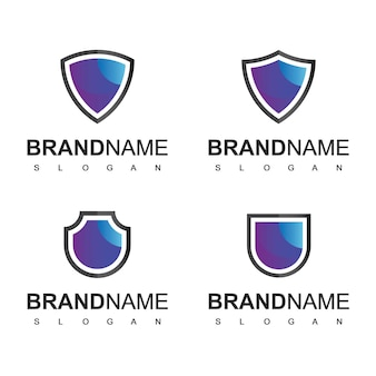 Shield-logo, cyberveilig en sterk symbool