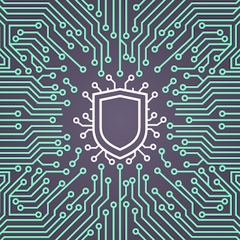 Shield network data protection system concept banner