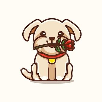 Shihtzu hond met bloem