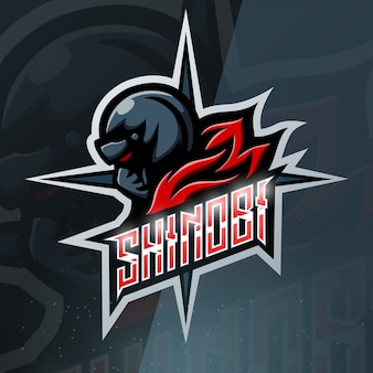 Shinobi mascotte esport illustratie