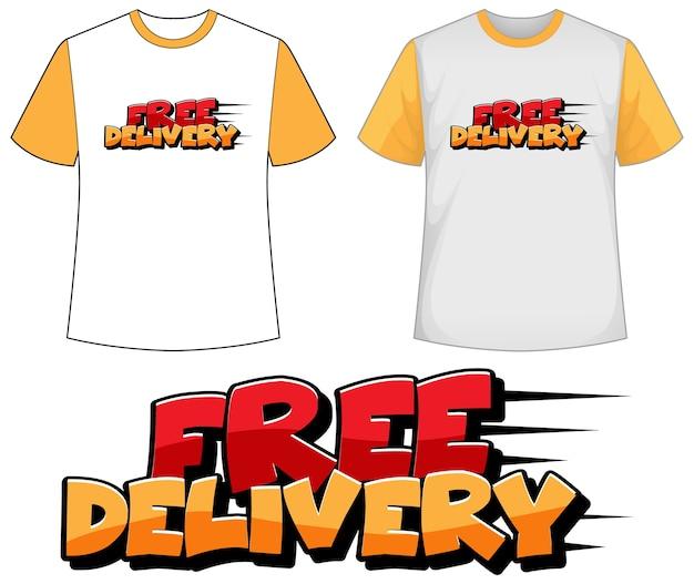 Shirt met gratis levering pictogram