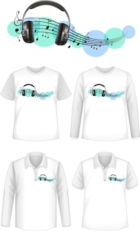 Shirt met muzieklogo