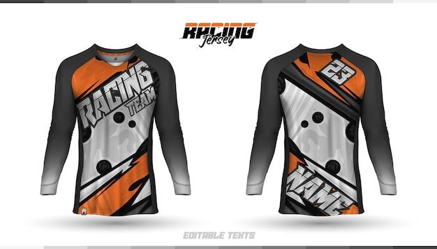 Shirt sjabloon, ontwerp racetrui, voetbalshirt
