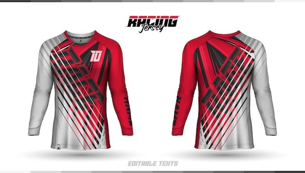 Shirt sjabloon, race jersey ontwerp, voetbalshirt