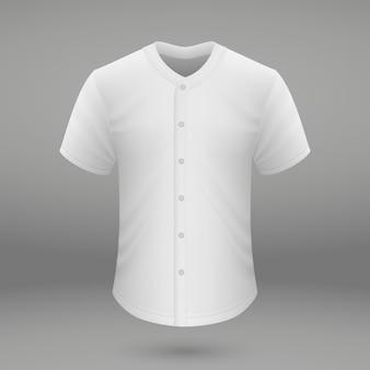 Shirt sjabloon voor baseball jersey