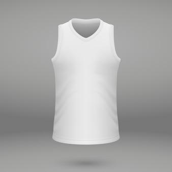 Shirt sjabloon voor jersey.