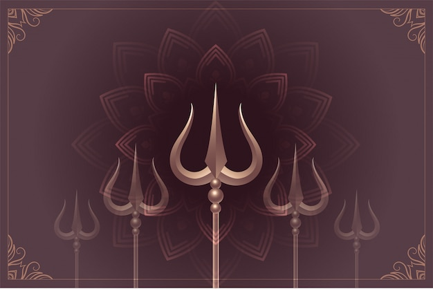 Shiva mahiva shivratri van lord met trishulachtergrond