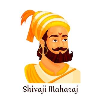 Shivaji maharaj geïllustreerd