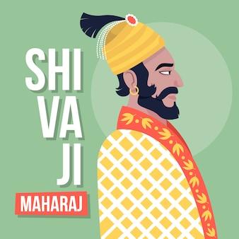 Shivaji maharaj illustratie ontwerp
