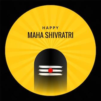 Shivling-idool voor festivalkaart van maha shivratri