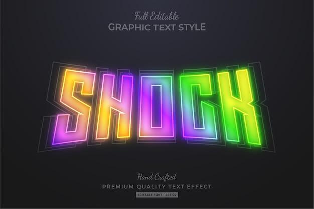 Shock gradient glow bewerkbaar teksteffect