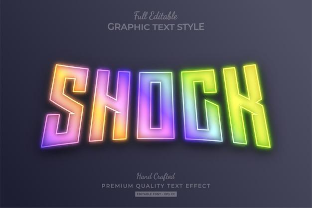 Shock gradient holografisch bewerkbaar teksteffect lettertypestijl