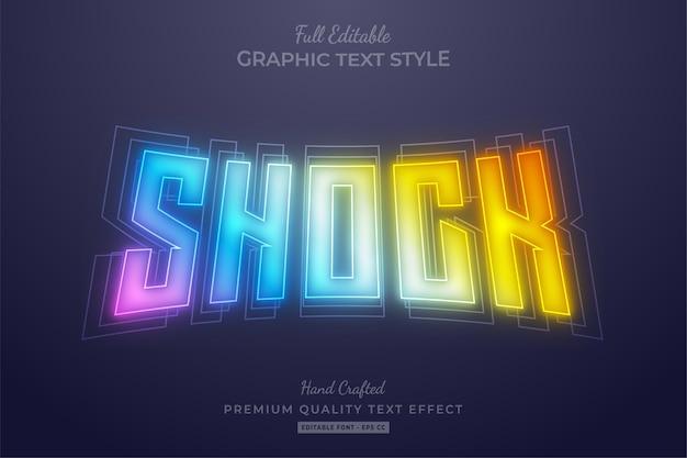 Shock gradient kleurrijke vervaging bewerkbaar teksteffect lettertypestijl
