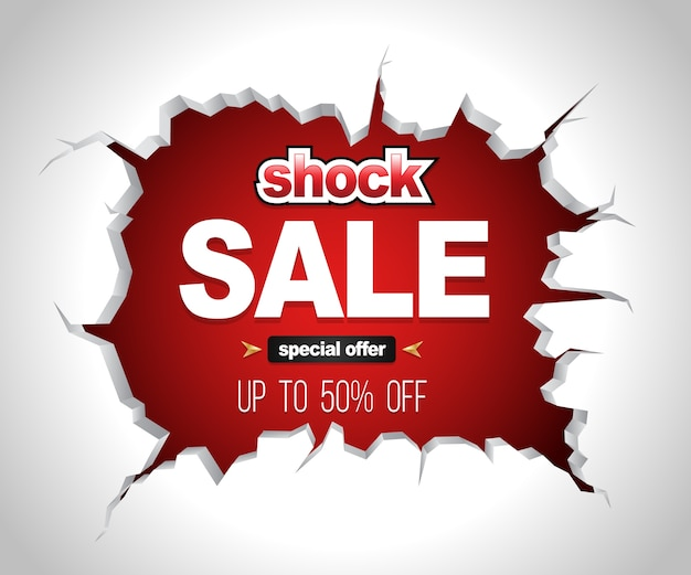 Shock verkoop banner
