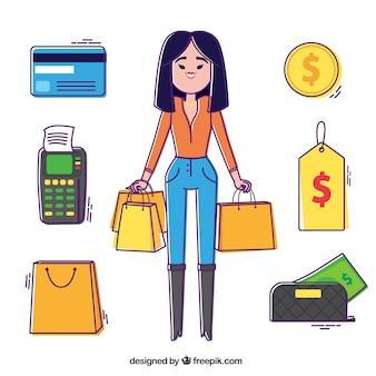 Shopaholic meisje